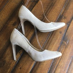 Jennifer Lopez Metallic Gold Silver Stiletto Heel